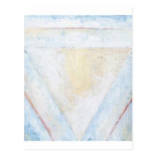 Triángulos equilaterales blancos invertidos postales