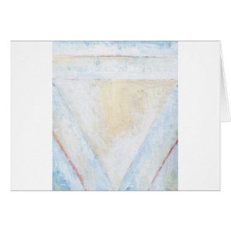 Triángulos equilaterales blancos invertidos tarjeta de felicitación