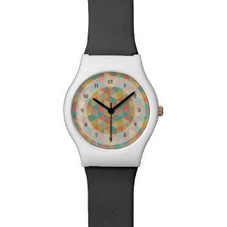 Triángulos geométricos coloridos del vintage, por  relojes de mano