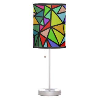 triángulos geométricos coloridos lámpara de mesa
