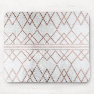 Triángulos geométricos del falso oro color de rosa alfombrilla de ratones