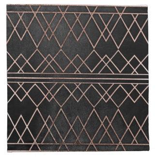 Triángulos geométricos del falso oro color de rosa servilletas