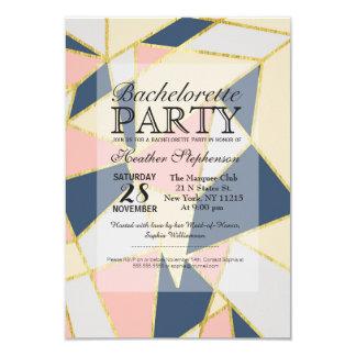 """Triángulos geométricos elegantes multicolores invitación 3.5"""" x 5"""""""
