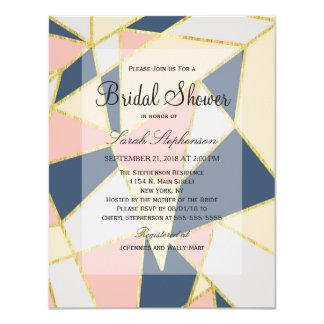 """Triángulos geométricos elegantes multicolores invitación 4.25"""" x 5.5"""""""