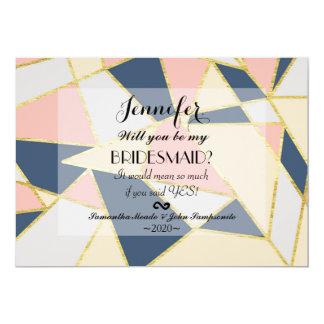 """Triángulos geométricos elegantes multicolores invitación 5"""" x 7"""""""