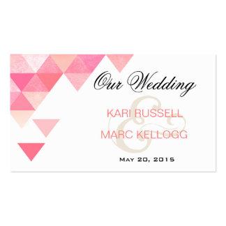 Triángulos geométricos que casan color de malva ro tarjeta de visita