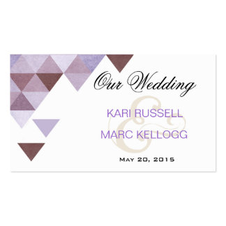 Triángulos geométricos que casan el bígaro del Web Tarjetas Personales