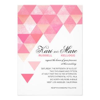 Triángulos geométricos que casan el color de malva anuncios personalizados
