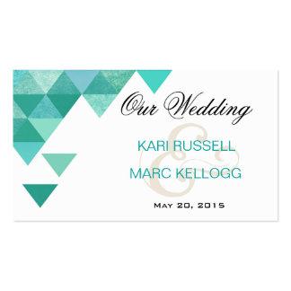 Triángulos geométricos que casan el trullo del Web Tarjetas De Visita