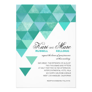 Triángulos geométricos que casan la turquesa del t anuncio personalizado