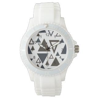 Triángulos geométricos relojes de pulsera