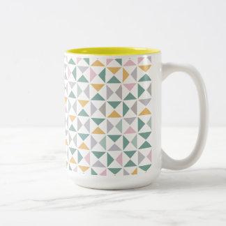 Triángulos geométricos tazas de café