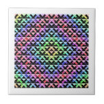Triángulos girados azulejo ceramica