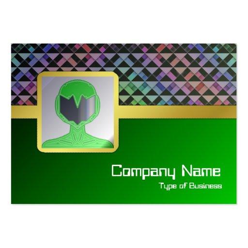 Triángulos girados plantilla de tarjeta personal