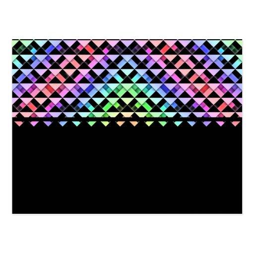 Triángulos girados postal