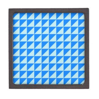 Triángulos grandes - azul y azul de la ventisca caja de regalo de calidad