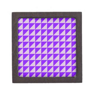 Triángulos grandes - cardo y violeta caja de recuerdo de calidad