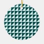 Triángulos grandes - Celeste y verde profundo de l Ornamento Para Reyes Magos