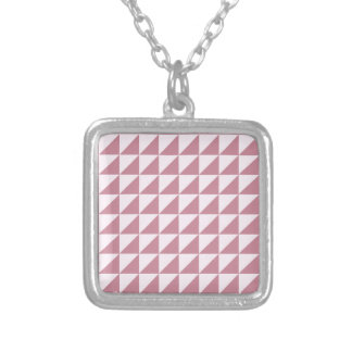 Triángulos grandes - cordón rosado y Puce Colgante