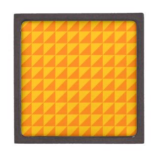 Triángulos grandes - naranja y ámbar caja de regalo de calidad