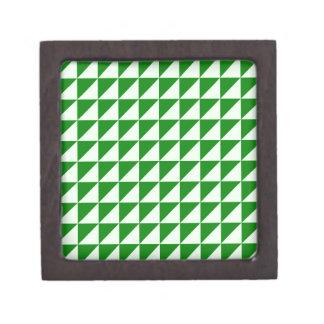 Triángulos grandes - Offwhitegreen y verde Cajas De Joyas De Calidad