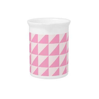 Triángulos grandes - palidezca - rosa y rosa del c jarrón