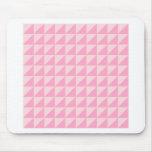 Triángulos grandes - palidezca - rosa y rosa del c alfombrillas de ratón