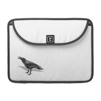 Triángulos grises cubistas geométricos del cuervo fundas para macbook pro
