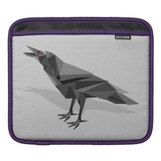 Triángulos grises cubistas geométricos del cuervo mangas de iPad