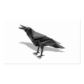 Triángulos grises cubistas geométricos del cuervo tarjetas de visita