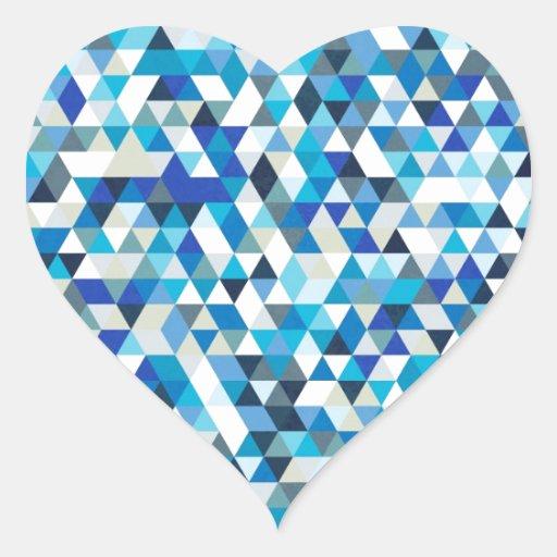 triángulos helados pegatina corazón personalizadas