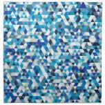 triángulos helados servilletas imprimidas
