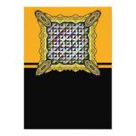Triángulos invertidos invitación 12,7 x 17,8 cm