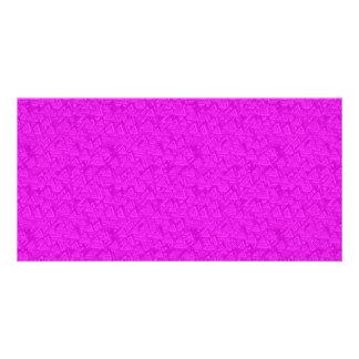 Triángulos magentas tarjeta fotografica
