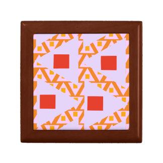 triángulos mezclados 2 de la orquídea roja de la joyero cuadrado pequeño