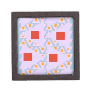 triángulos mezclados del naranja azul claro de la cajas de recuerdo de calidad