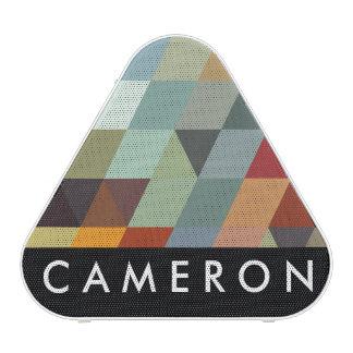 Triángulos multicolores geométricos de los modelos altavoz