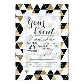 """Triángulos negros, blancos, y falsos modernos del invitación 3.5"""" x 5"""""""