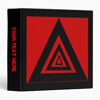 """Triángulos negros y rojos carpeta 1 1/2"""""""