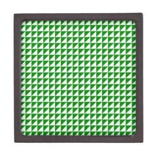 Triángulos - Offwhitegreen y verde Caja De Joyas De Calidad