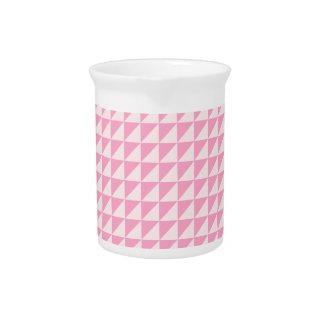 Triángulos - palidezca - rosa y rosa del clavel jarra