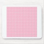 Triángulos - palidezca - rosa y rosa del clavel tapete de ratones