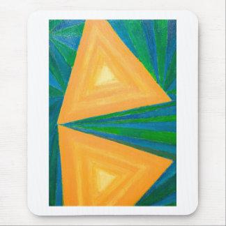 Triángulos parciales (expresionismo geométrico) alfombrilla de raton