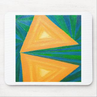 Triángulos parciales (expresionismo geométrico) alfombrillas de ratones