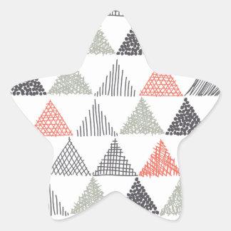 Triángulos Pegatina En Forma De Estrella