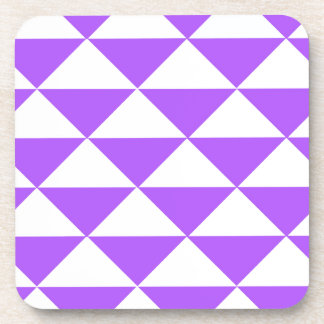 Triángulos púrpuras y blancos posavasos