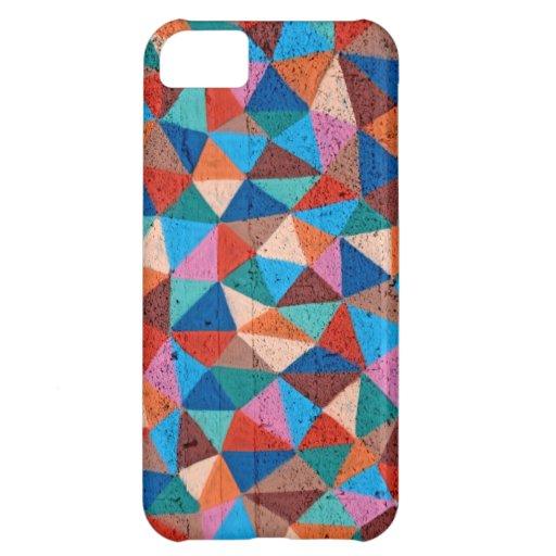 Triángulos rociados coloridos de la pintada