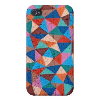 Triángulos rociados coloridos de la pintada iPhone 4/4S funda