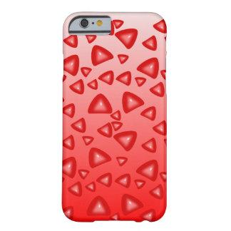 Triángulos rojos brillantes, funda iphone 6 funda de iPhone 6 barely there