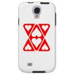Triángulos rojos del corazón